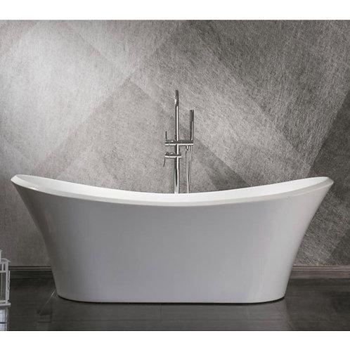"71"" Freestanding Acrylic Bathtub in White"