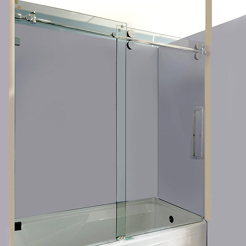 "60"" Frameless Bathtub Shower Glass"