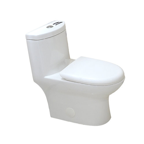 One-Piece Elongated Dual-Flush Fully Concealed Toilet