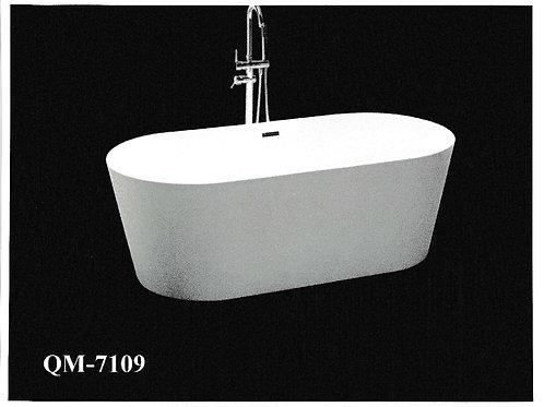 "59"" Freestanding Acrylic Bathtub in White"