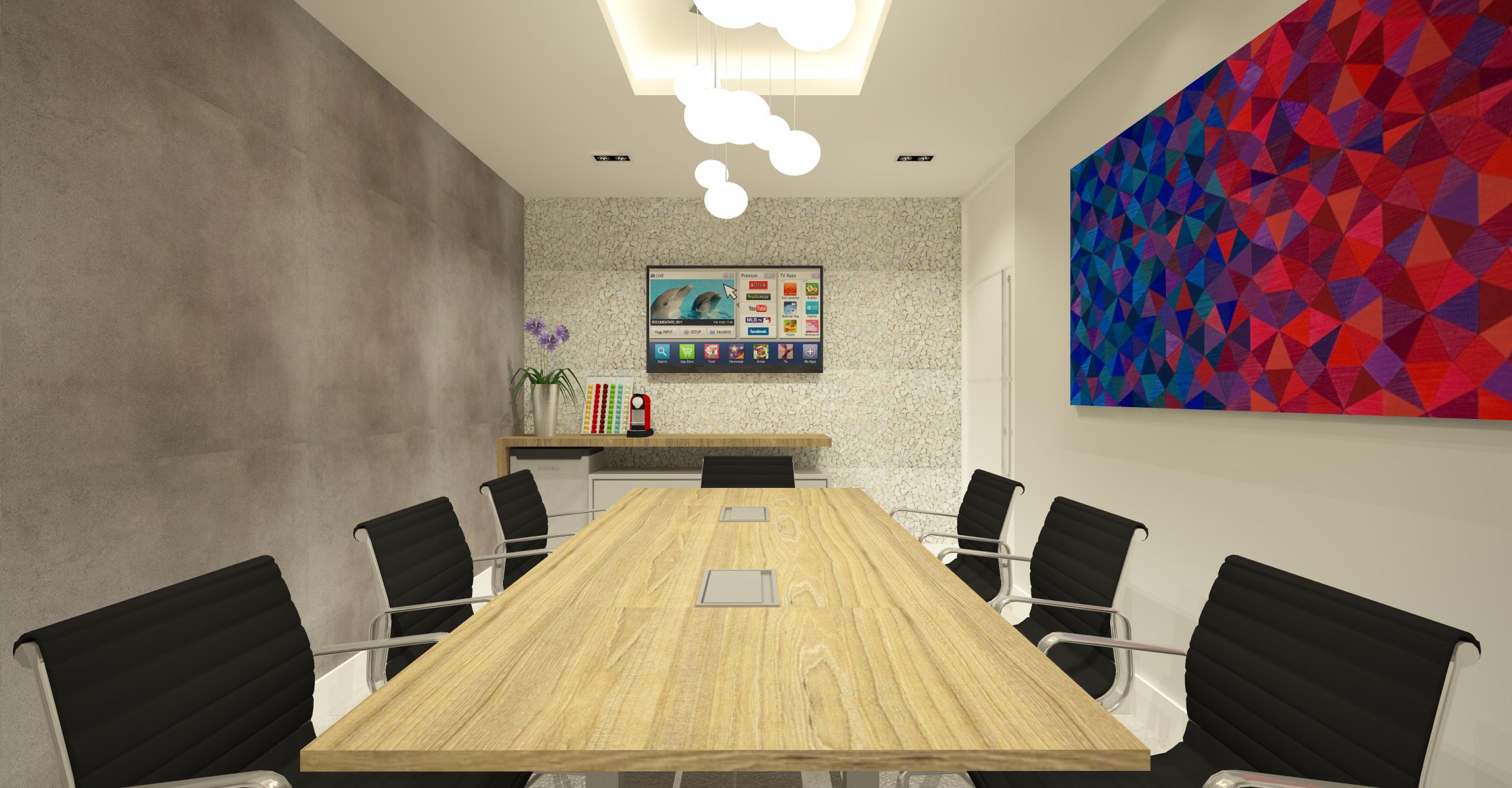sala de reunião decoração
