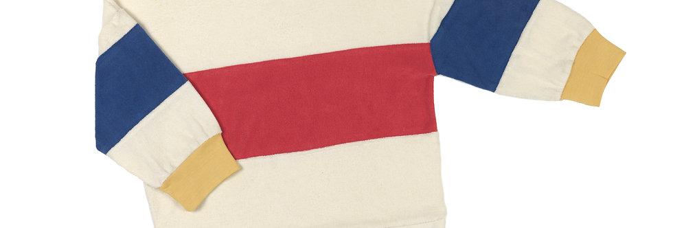 Tricolor towel sweatshirt
