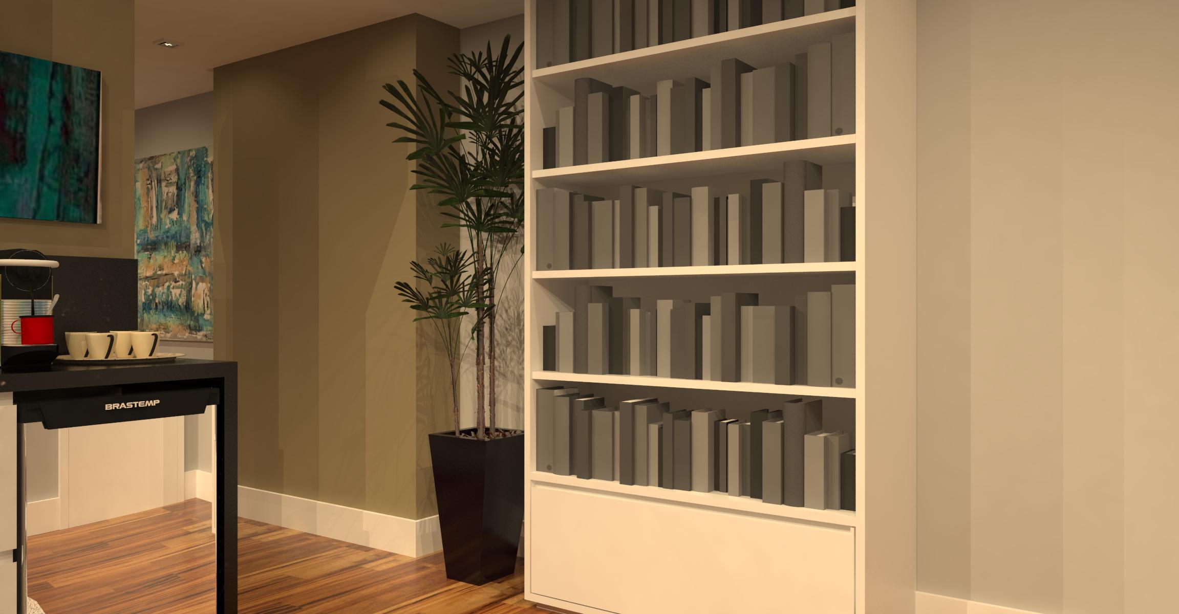 biblioteca e lounge integrados