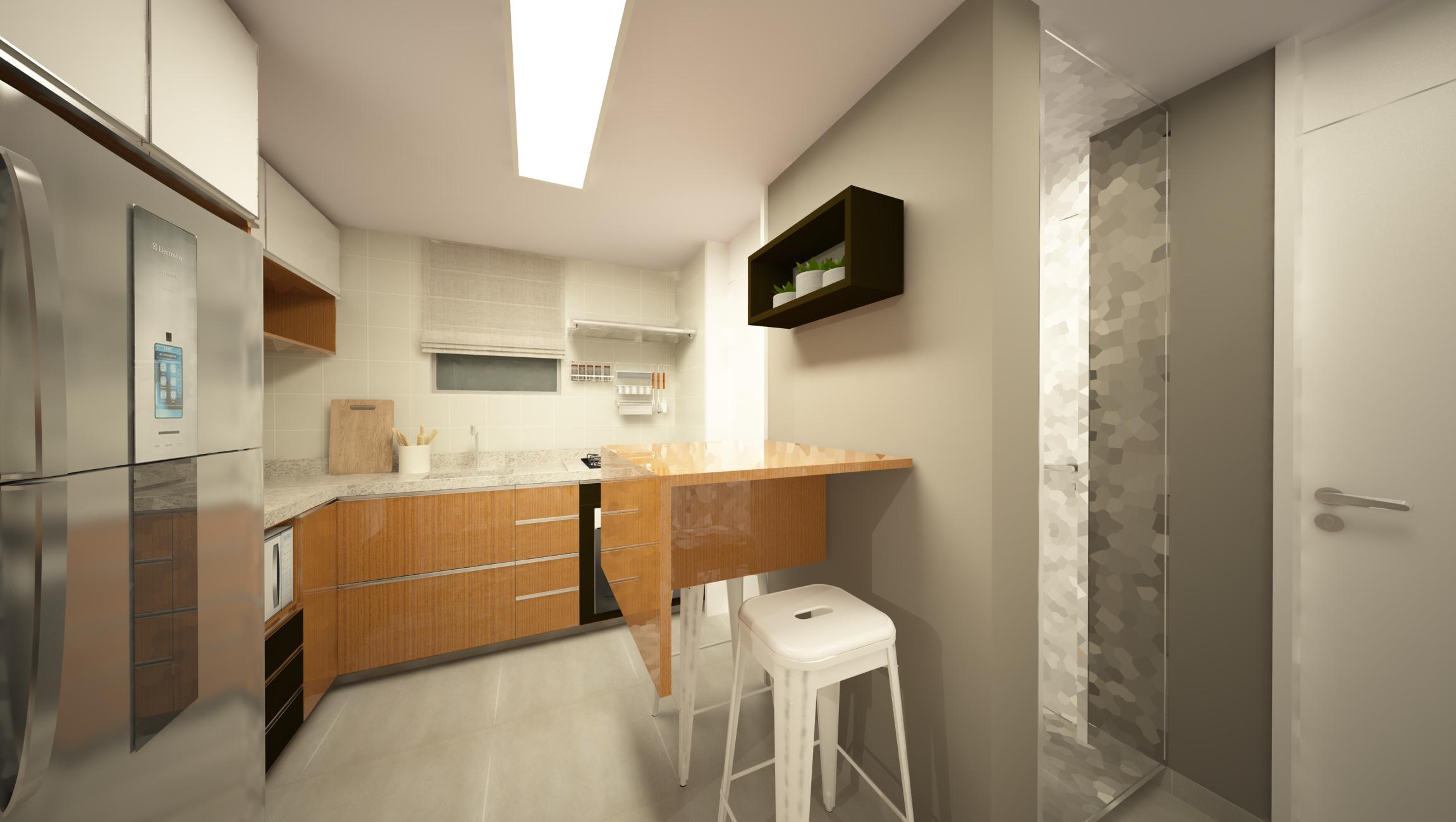 cozinha integrada e contemporanea