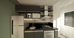 cozinha preta moderna industrial
