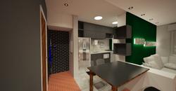 cozinha integrada cleen preta design