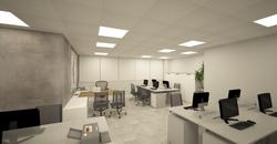 área de trabalho staff open space