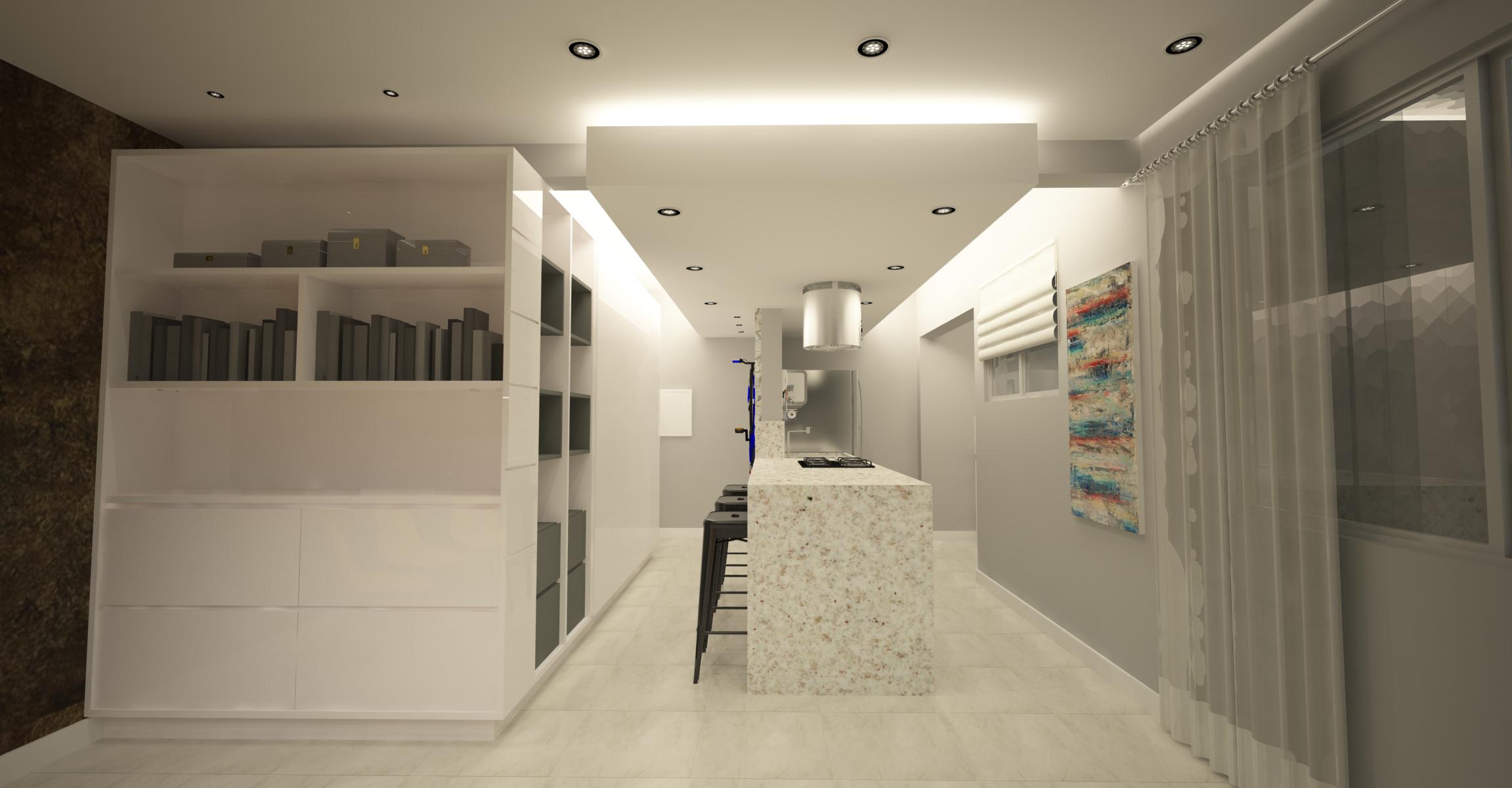 cozinha integrada ilha cooktop