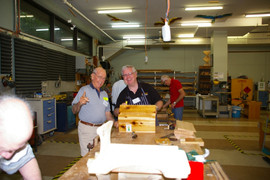 Ray and Barry assembling bird feeders
