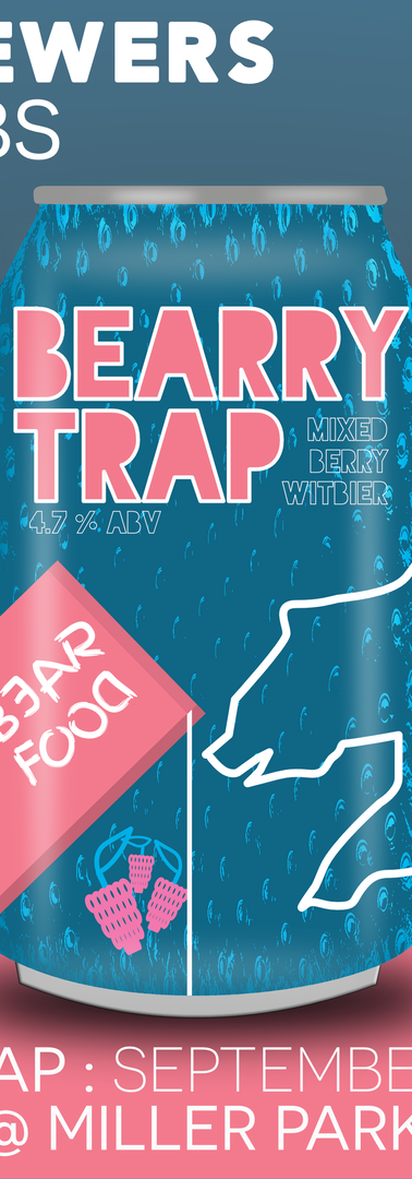 """Bearry Trap : Mixed Berry Witbier"""