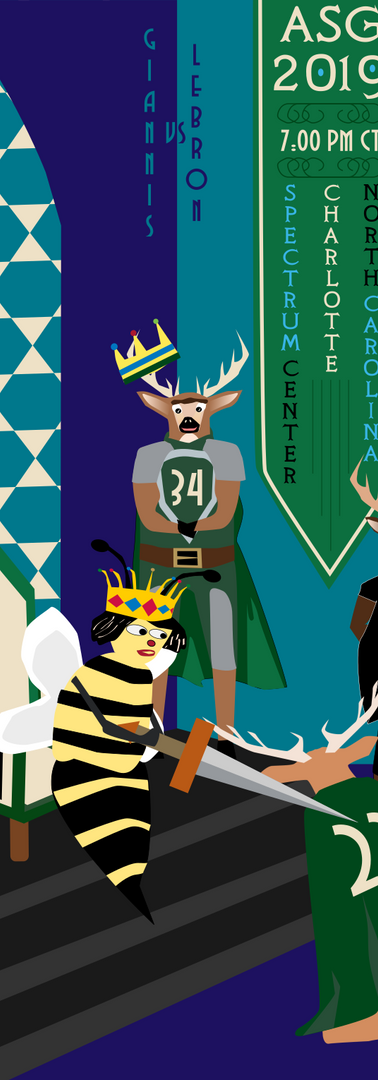 The New King of The East and the Knighting of His Court