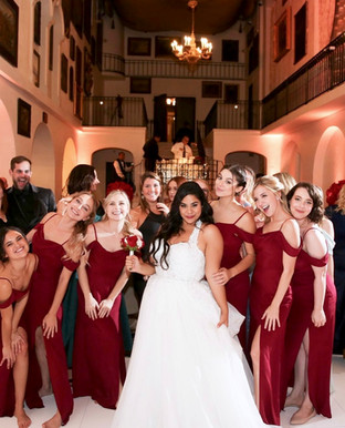 Jessica Garcia in her custom wedding dress by Rachel and Rose