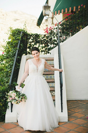 Lace wedding dress exclusive to Rachel and Rose