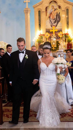 Custom made lace wedding dress by Rachel and Rose