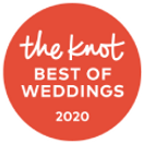 The Knot Best of Weddings 2020 award badge