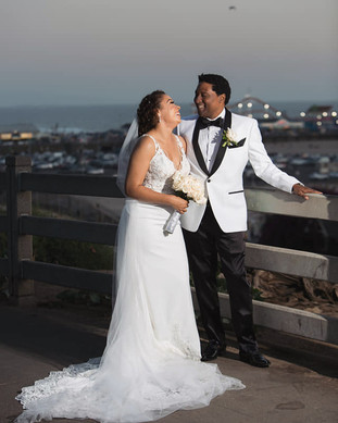 Pronovias wedding dress with lace edge train