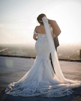 Custom mermaid wedding dress by Rachel and Rose