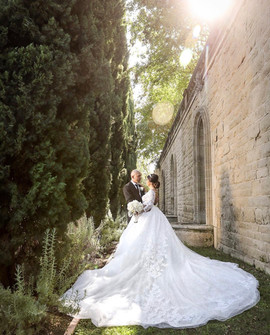 Custom made princess wedding dress with lace by Rachel and Rose