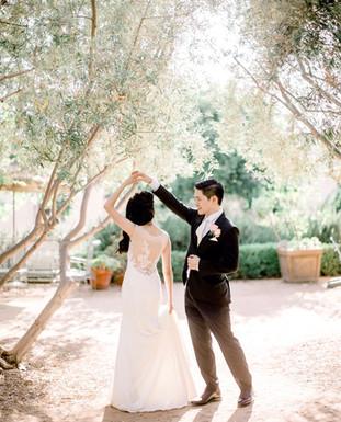 Illusion back lace wedding dress