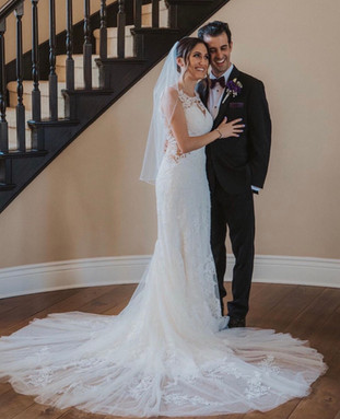 Justin Alexander wedding dress with lace