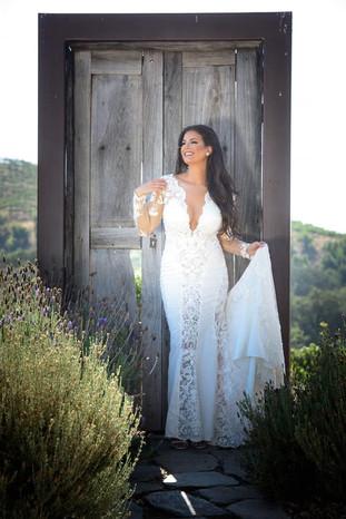 Custom lace wedding dress by Rachel and Rose