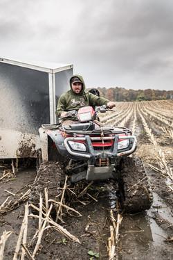 Owner Luke hauling the trailer