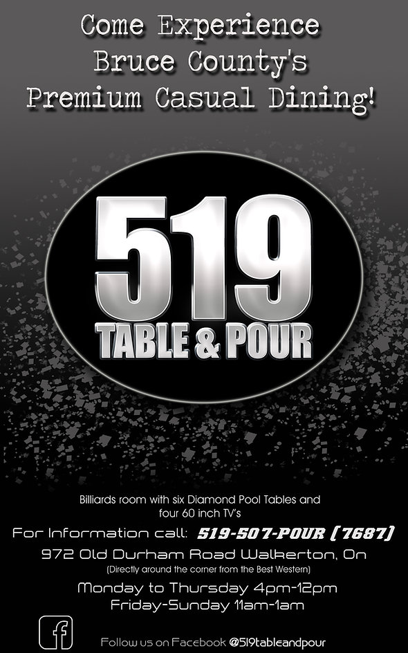 519 Table and Pour restaurant ad