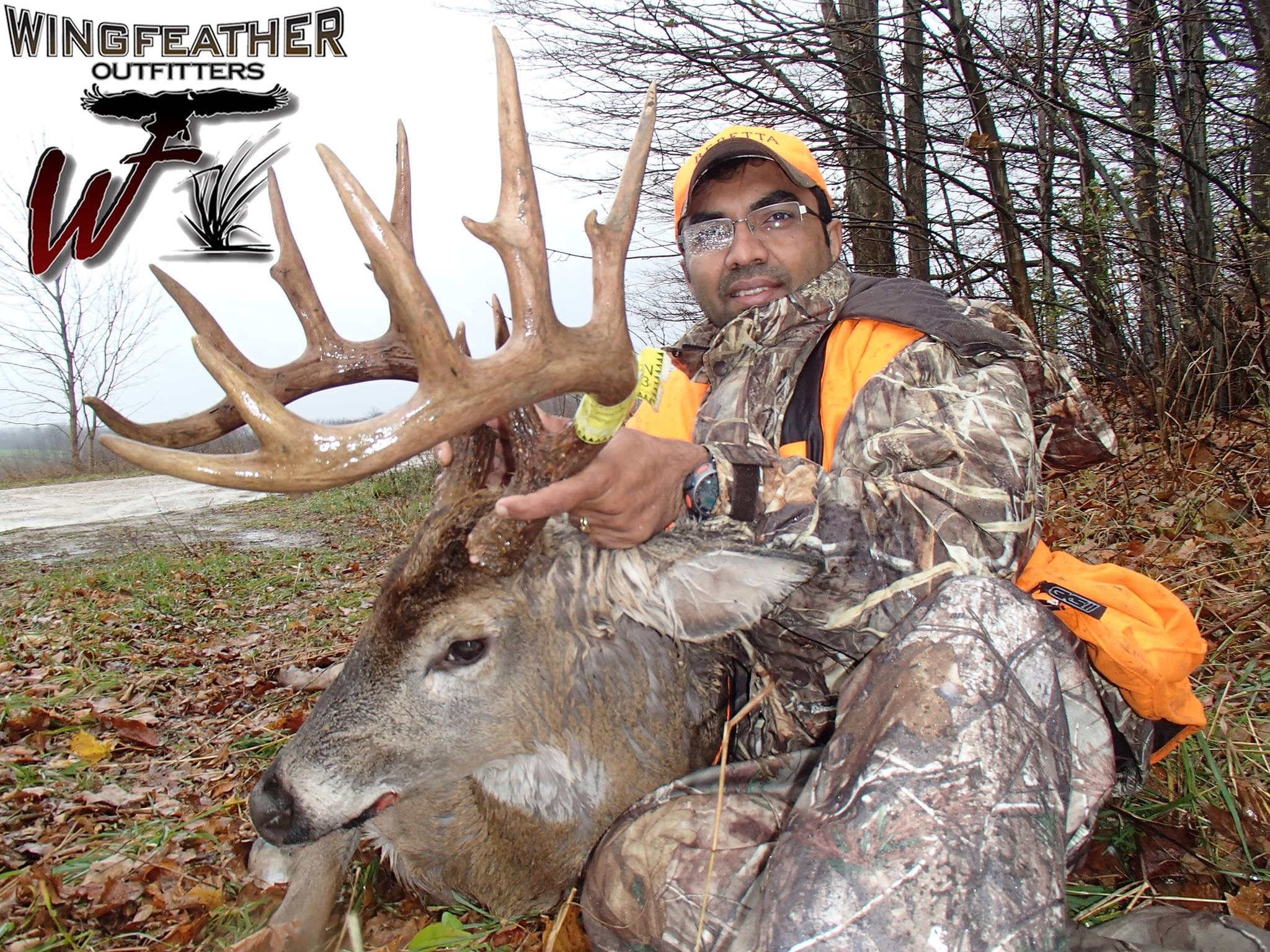 Client with a monster whitetail