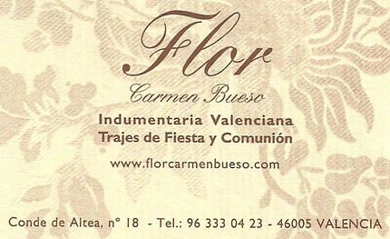 Flor-Carmen Bueso Indumentaria Valenciana