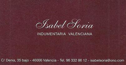 Isabel Soria Indumentaria Valenciana
