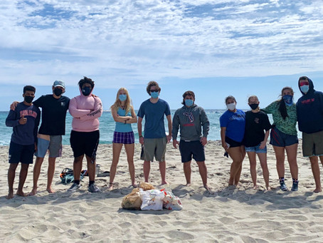 Helping the Community: Beach Cleanup