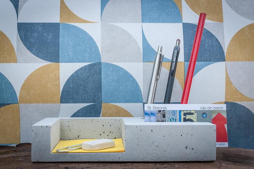 organizator din beton pentru birou