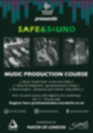 Safe and Sound Flyer Digital + Live work
