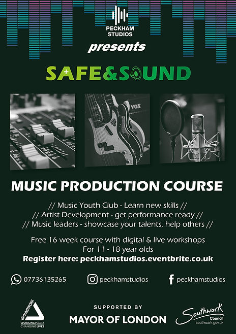 Safe and Sound Flyer Digital + Live work