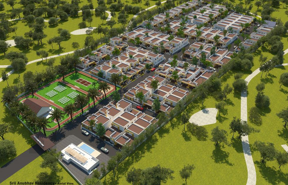 Aerial view for Srii Anubhav Residency.J