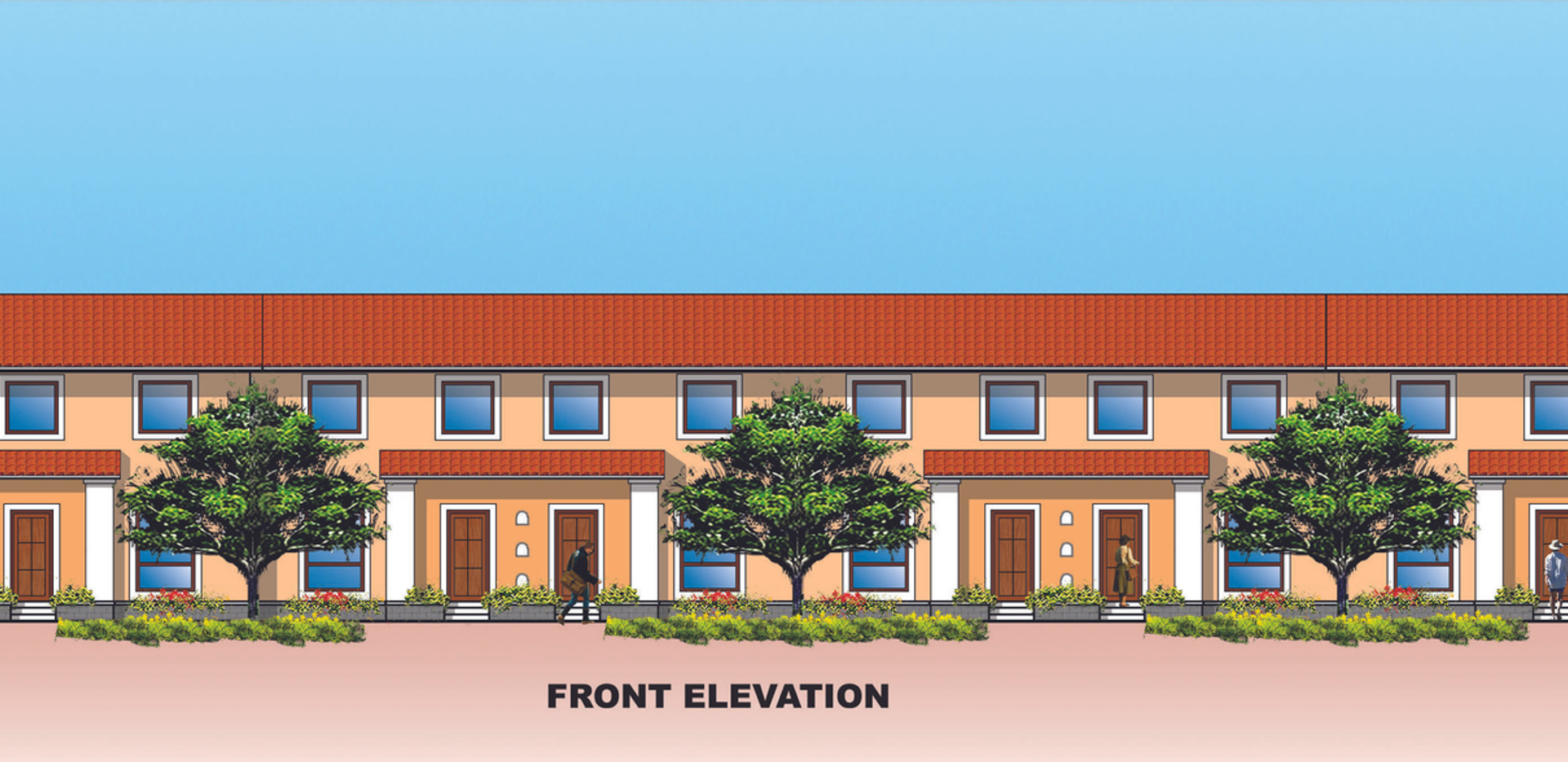 LAKE VIEW SUITES ( Front side elevation)