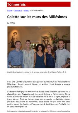 Les Millésimes - Yonne Républicaine 2014