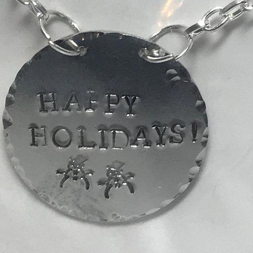 Bottle Charm - Happy Holidays