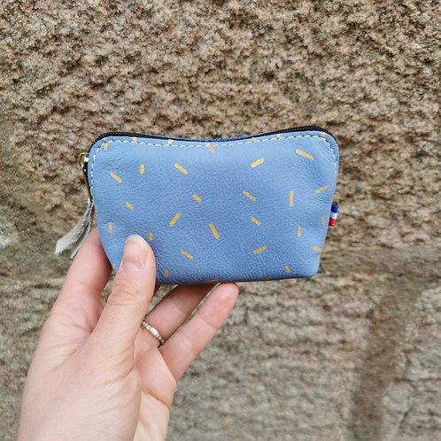 Porte monnaie LISE  - bleu lavande -
