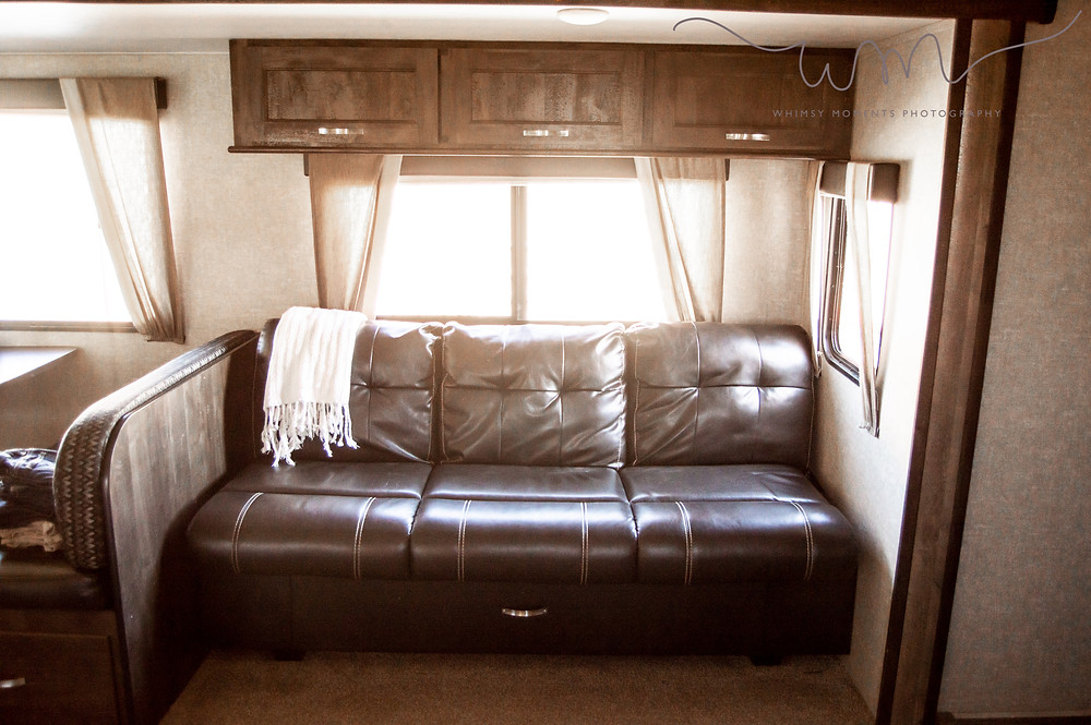Couch in camper