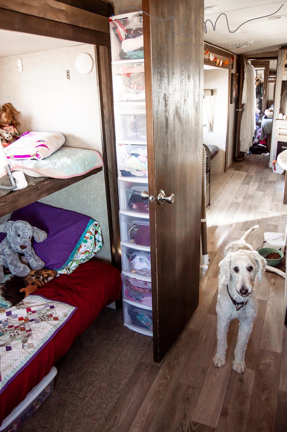 Girls beds in camper