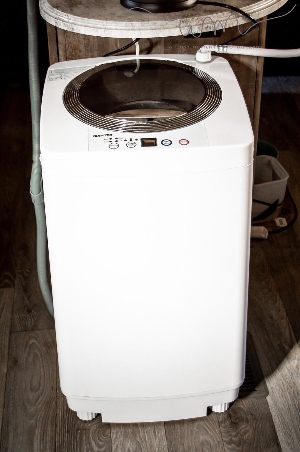 Washing machine in camper