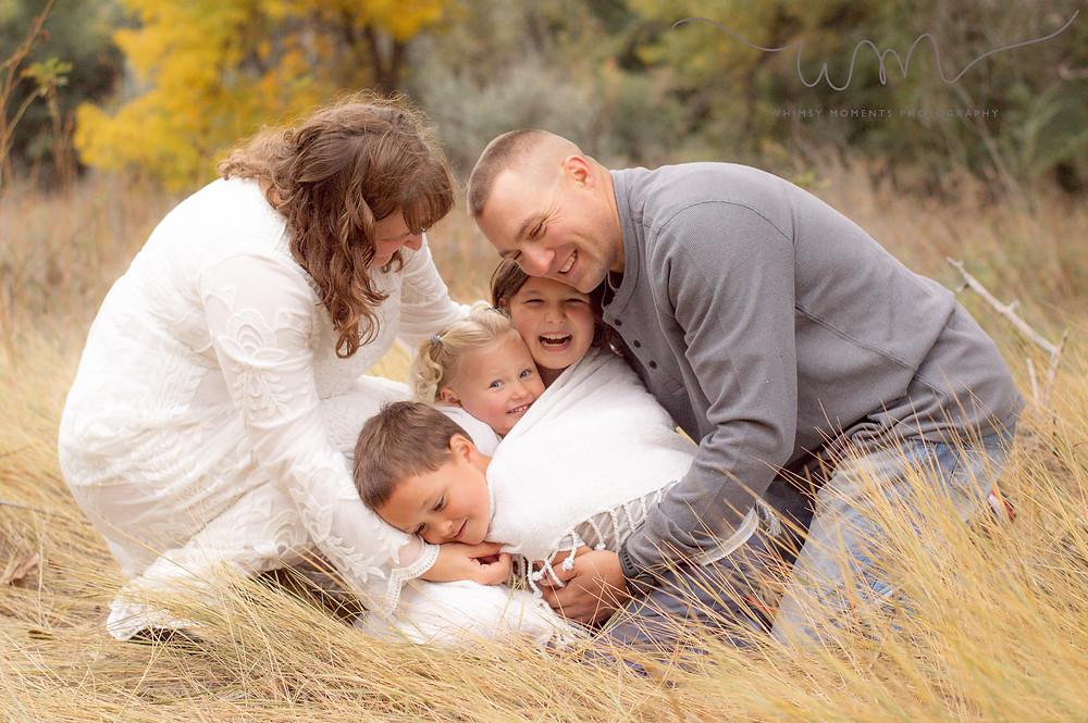 Brush Colorado Family Session family hug