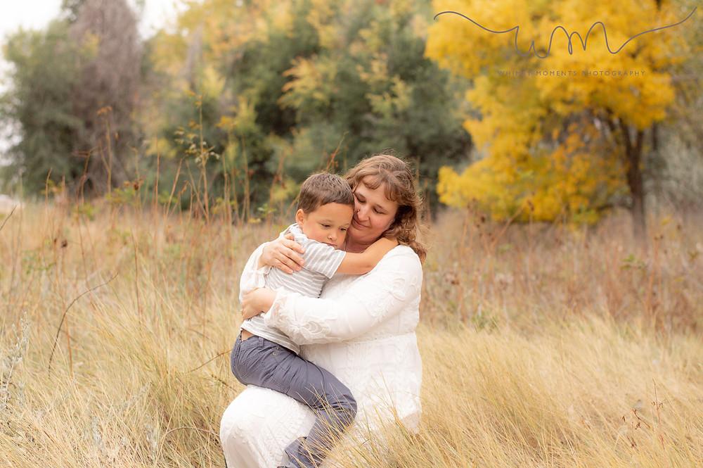 Brush Colorado Family Session Mom and son