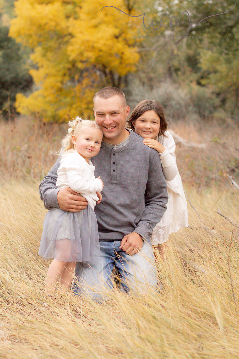 Brush Colorado Family Session Dad and daughters