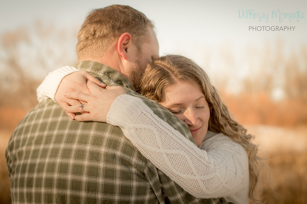 Beautiful Engagement session in Brush Colorado by the River