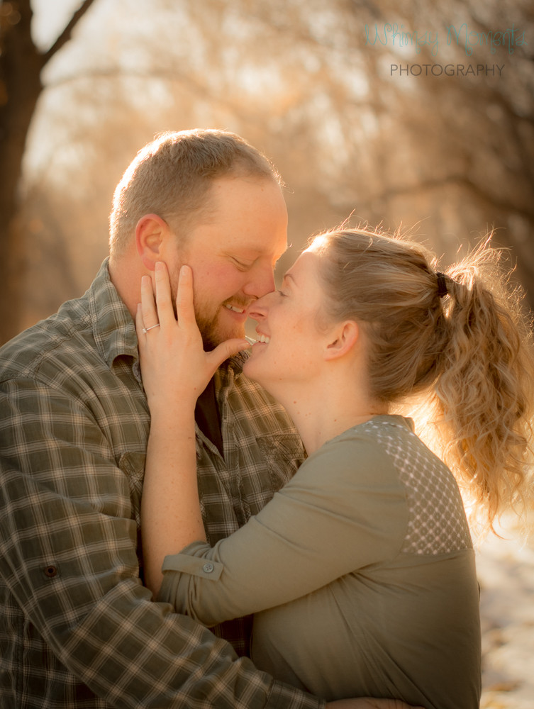 Beautiful Winter Engagement session in Brush, Colorado