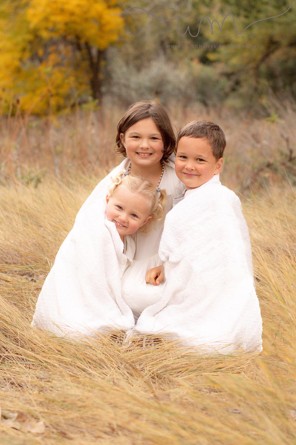 Brush Colorado Family Session Kids snuggling