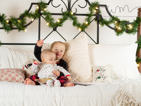 Christmas Pajama Mini Session in Fort Morgan, Colorado