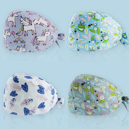 Cotton Cap Nurse Package Headscarf Gourd Hat Unisex Adjustable Doctor Cap